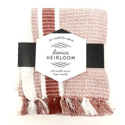 Now Designs Heirloom Soft Waffle Dishtowel   Clay