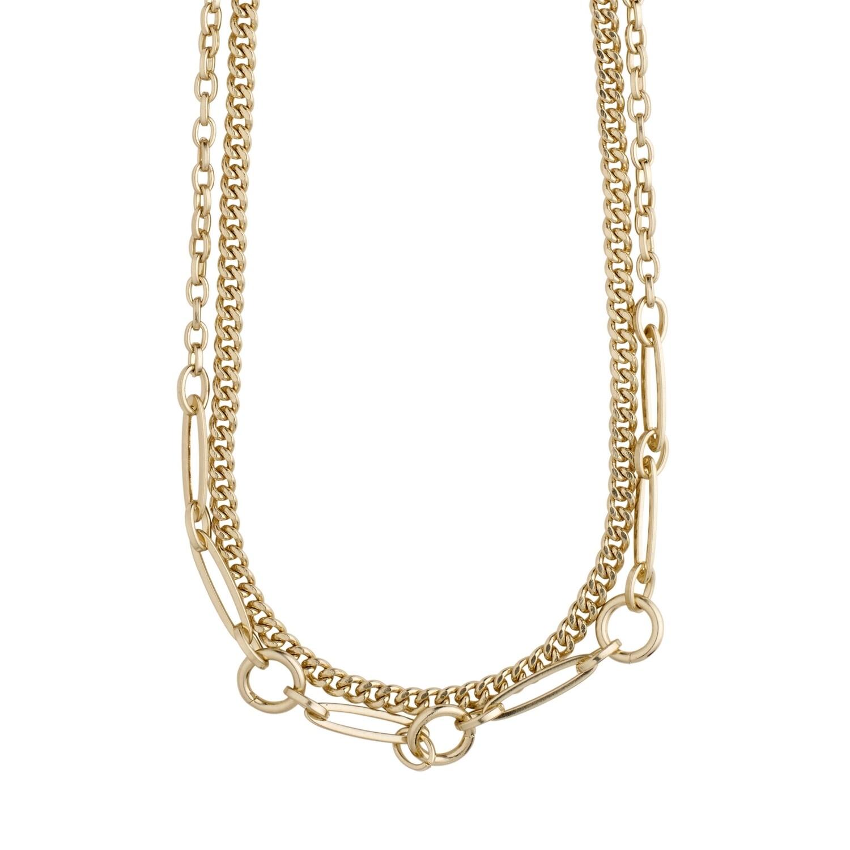Pilgrim Gold Sensitivity 2-in-1 Chain Necklace