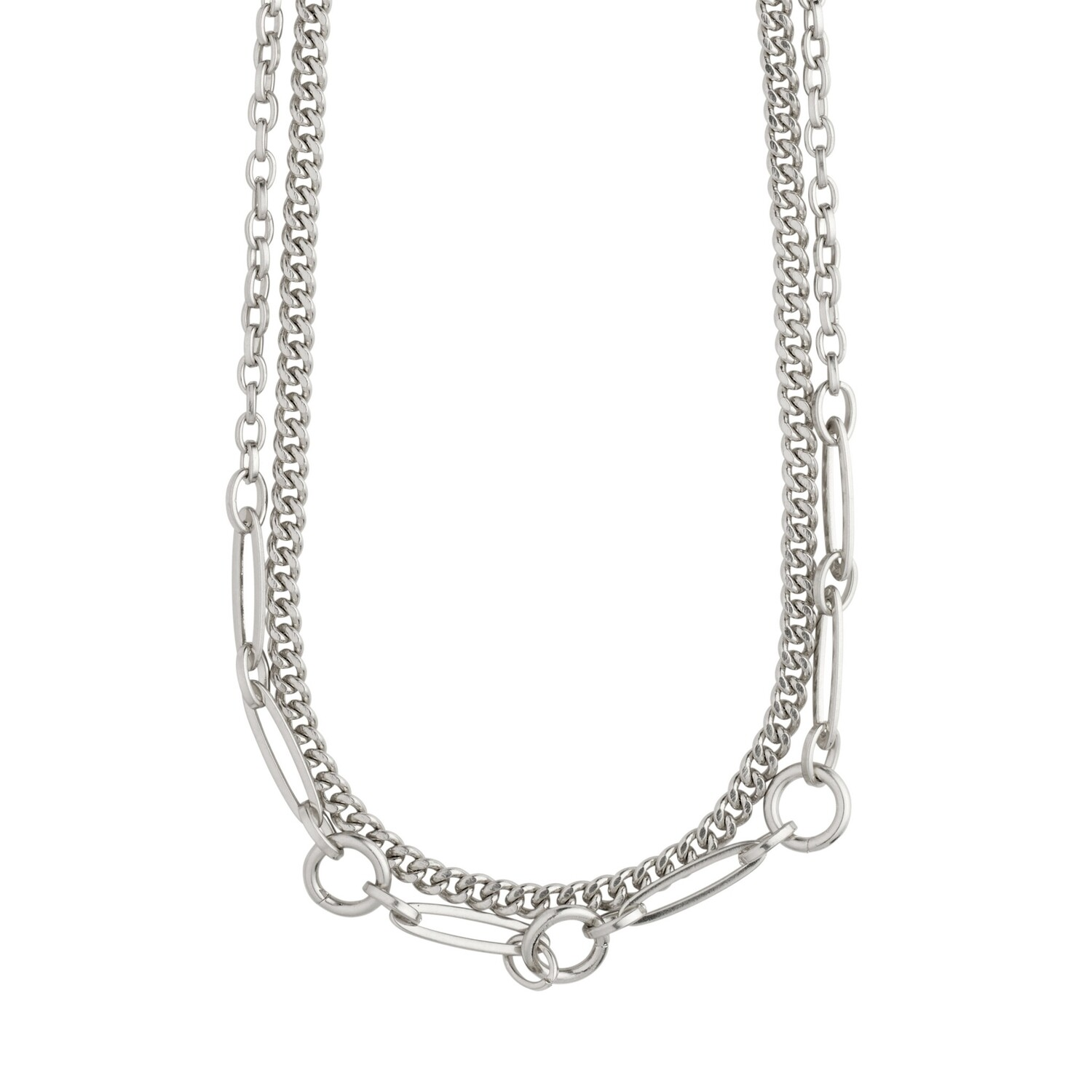 Pilgrim Silver Sensitivity 2-in-1 Chain Necklace
