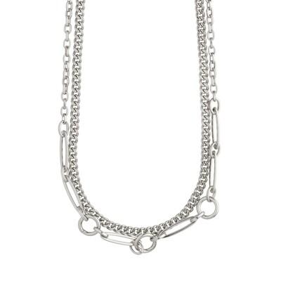 Pilgrim Silver Sensitivity 2-in-1 Chain Necklace