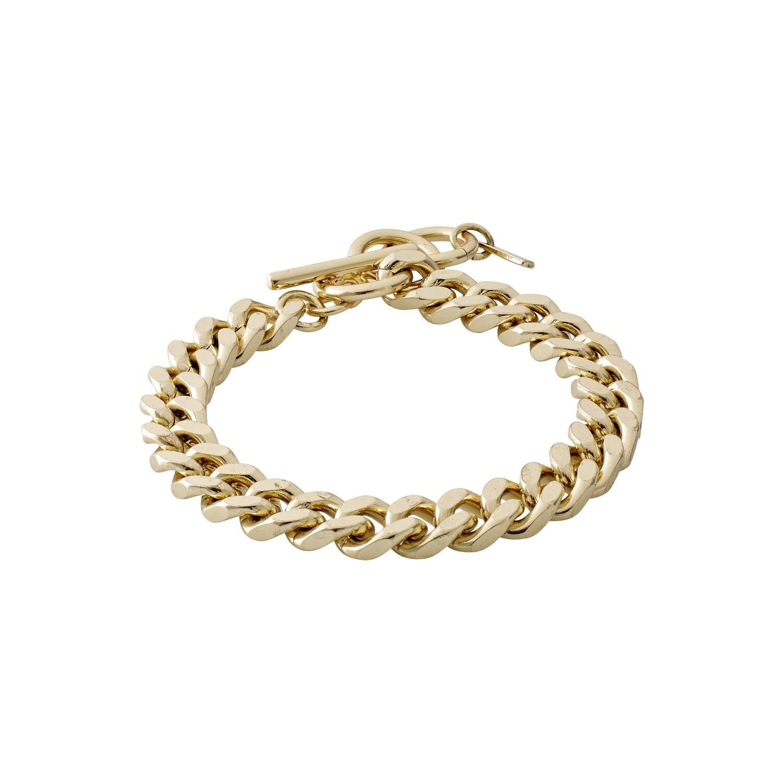 Pilgrim Gold Chain Bracelet Water Element