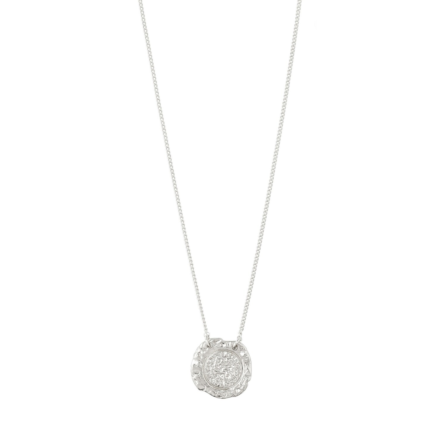 Pilgrim Silver Marley Coin Necklace