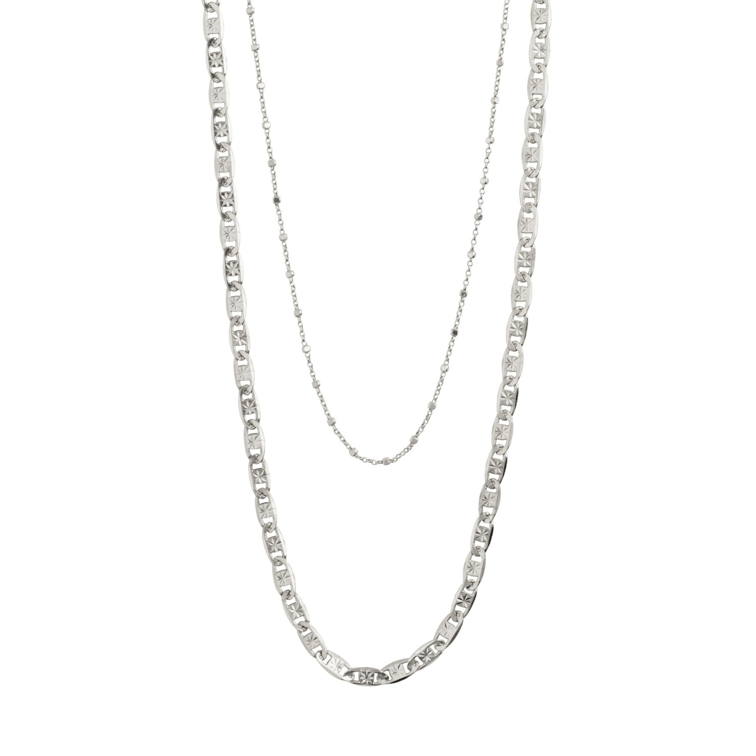 Pilgrim Silver Intuition 2-in-1 Necklace