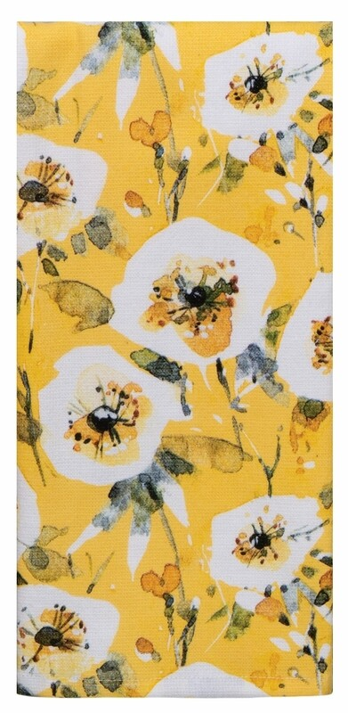 Kay Dee Designs Duel Purpose Terry Towel | Sweet Home Yellow Floral