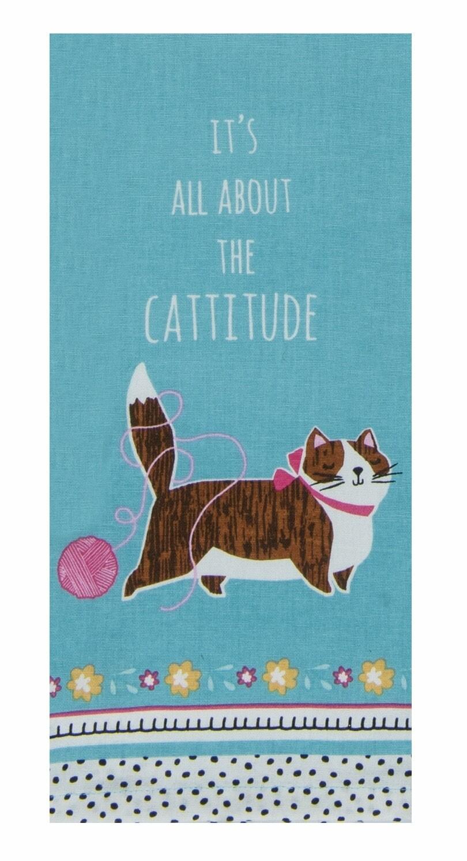 Kay Dee Designs Tea Towel | Crazy Cat Cattitude