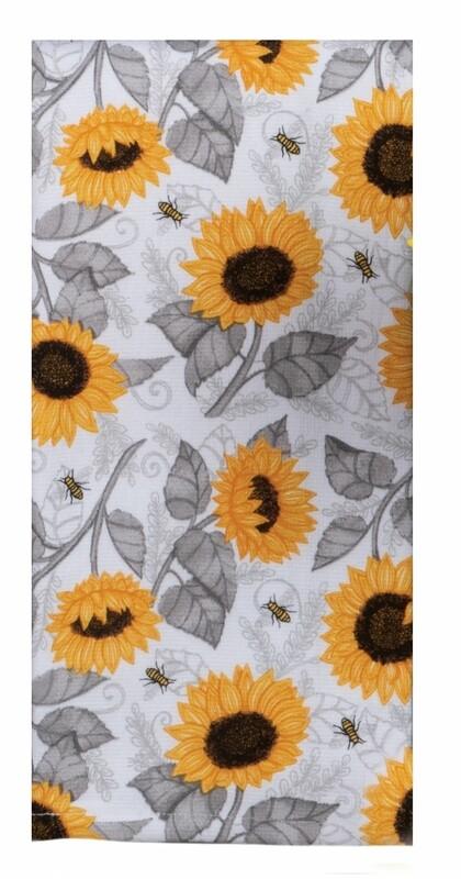 Kay Dee Designs Duel Purpose Terry Towel | Just Bees Sunflower