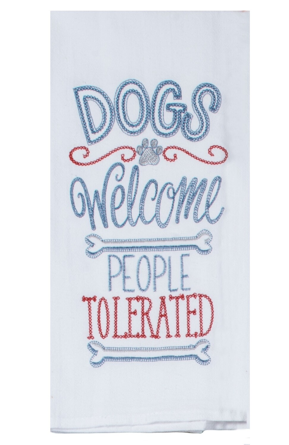 Kay Dee Designs Embroidered Flour Sack Towel | Wags Dogs Welcome