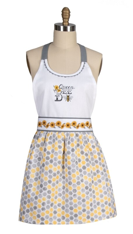 Kay Dee Designs Embroidered Hostess Apron | Just Bees Queen Bee