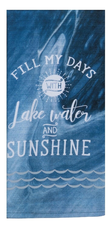 Kay Dee Designs Duel Purpose Terry Towel   Lake Water Sunshine