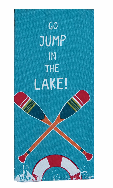 Kay Dee Designs Duel Purpose Terry Towel | Go Jump in the Lake