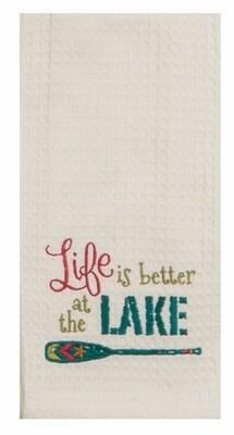 Kay Dee Designs Embroidered Waffle Tea Towel | Life at the Lake