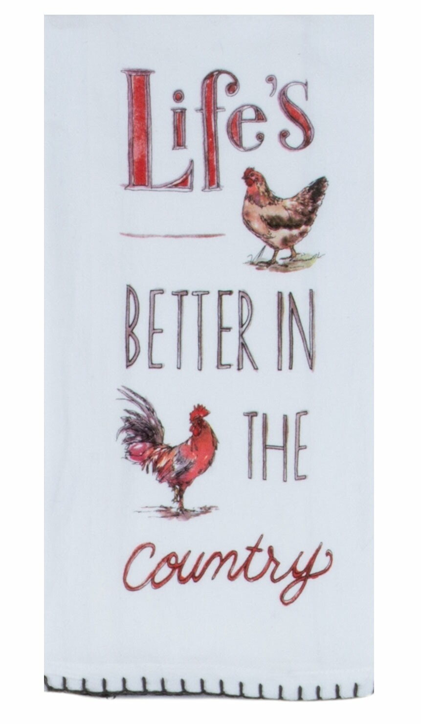 Kay Dee Designs Flour Sack Towel   Country Life is Better