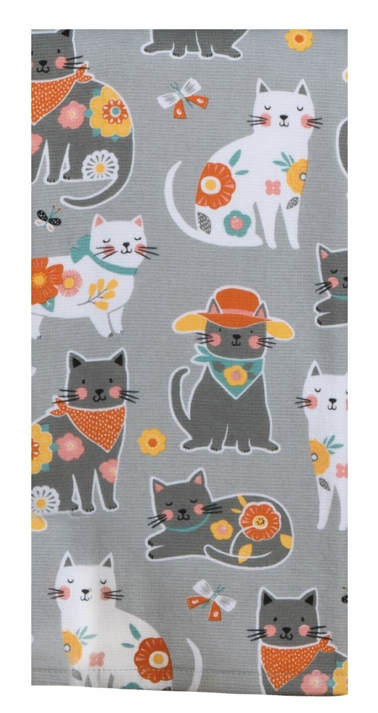 Kay Dee Designs Duel Purpose Terry Towel | Cat Patch