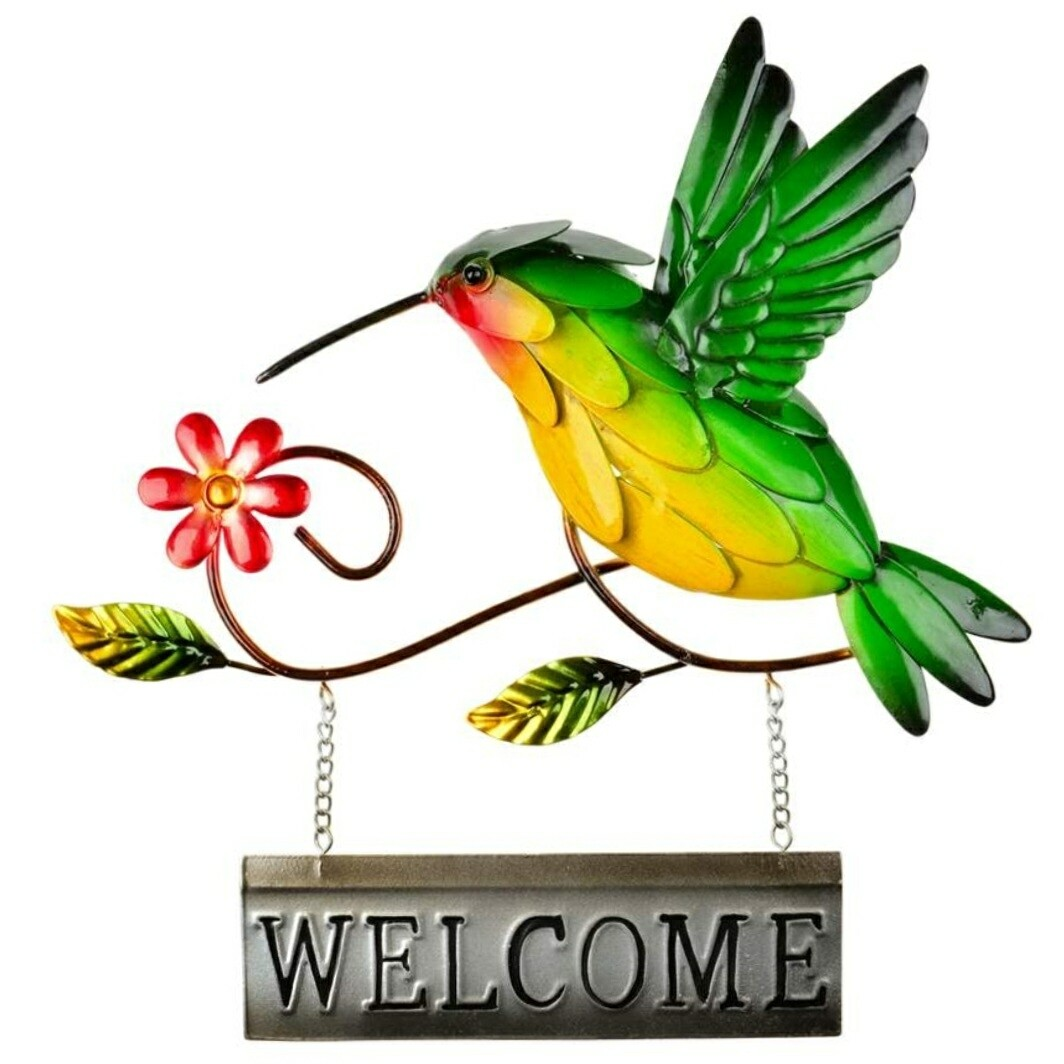 Hummingbird Welcome Sign