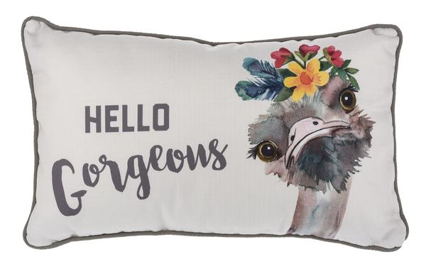 Small Ostrich Cushion - Hello Gorgeous