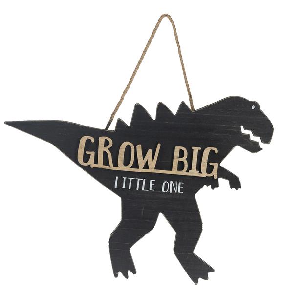 GANZ Cut Out Dino Hanging Sign - Grow Big