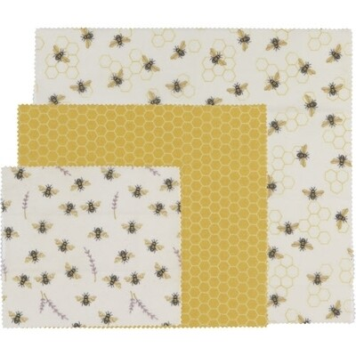 Now Designs Bees Wax Wraps (Set of 3) - Bees