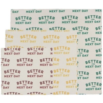 Now Designs Bees Wax Wraps (Set of 3) - Better the Next Day