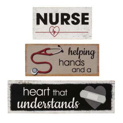 Nurse Stacking Block Sign