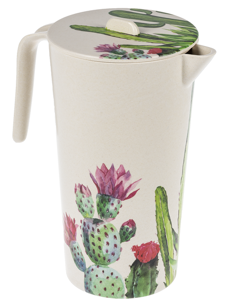 Bamboo Pitcher with Lid - Succulent