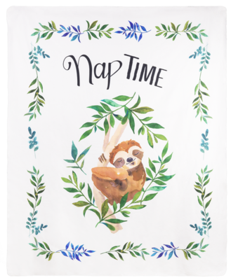 Printed Throw - Nap Time Sloth