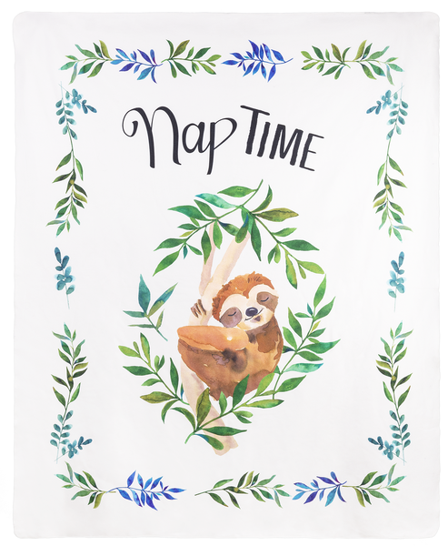 Printed Throw - Nap Time Sloth