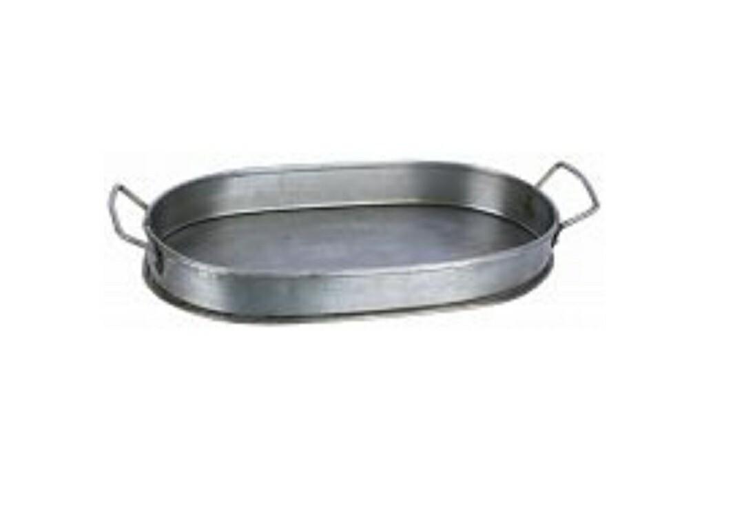 Galvanized Oval Tray - Small