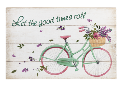 Wood Plank Wall Plaque - Let the Good Times Roll