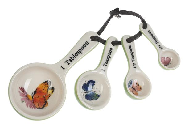 Ceramic Measuring Spoons - Butterflies