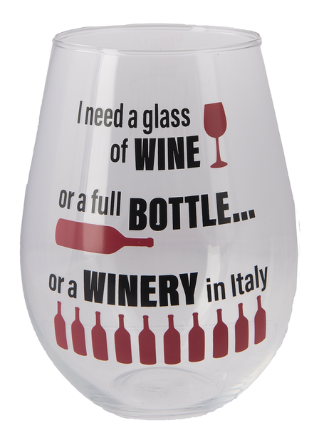 The Stupendous Stemless Wine Glass - Winery in Italy