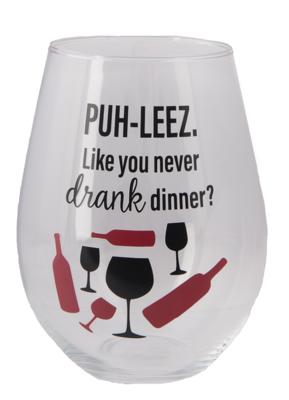 The Stupendous Stemless Wine Glass - Drank Dinner