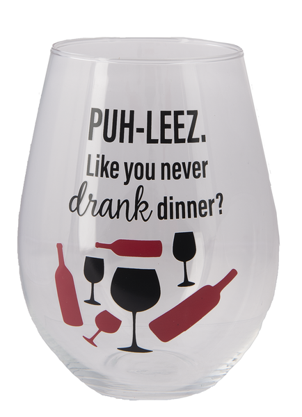 The Stupendous Stemless Wine Glass - Drank Dinner