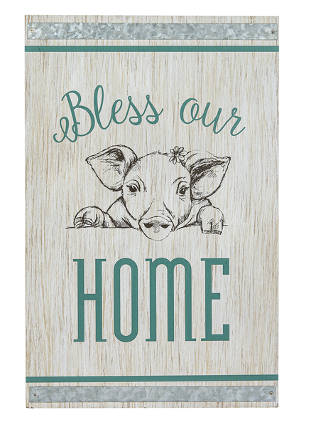 Farmhouse Plaque - Bless Our Home