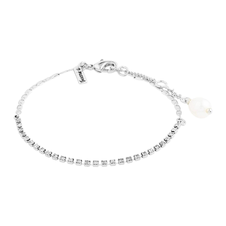 Pilgrim Silver Crystal Cherished Bracelet