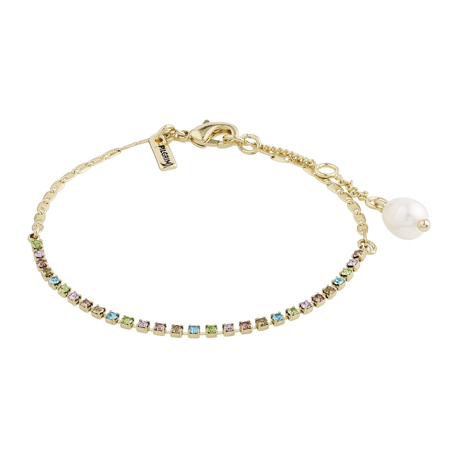 Pilgrim Gold Multi Color Cherished Bracelet