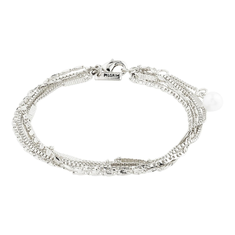 Pilgrim Silver Katherine Layered Bracelet