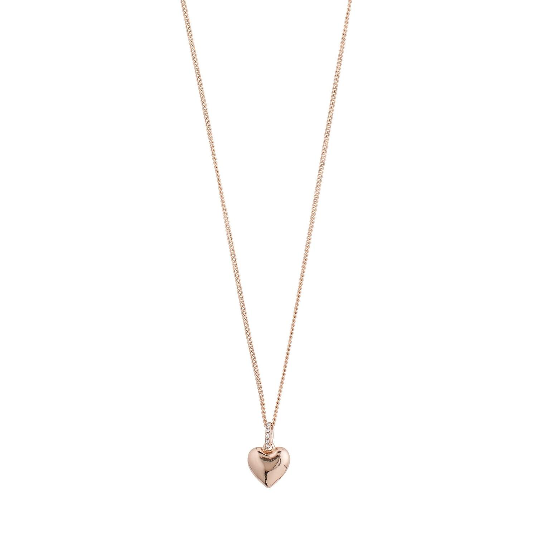 Pilgrim Rose Gold Sophia Crystal Necklace