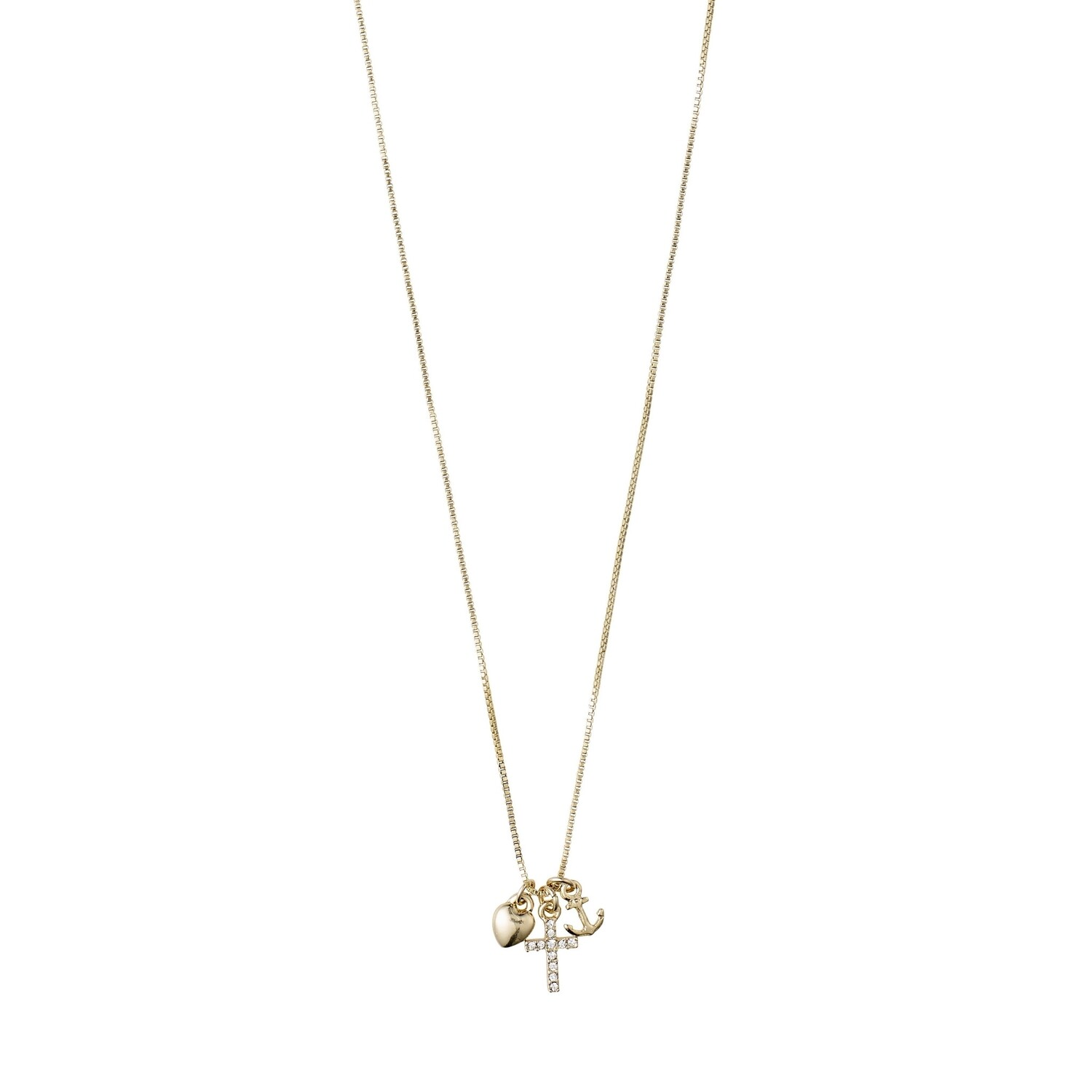 Pilgrim Gold Anet Crystal Necklace