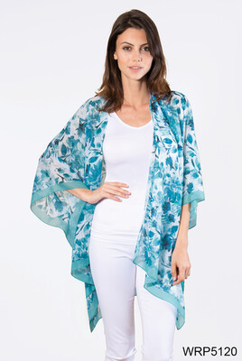 Simply Noelle | Floral Wrap (Blue or Pink)