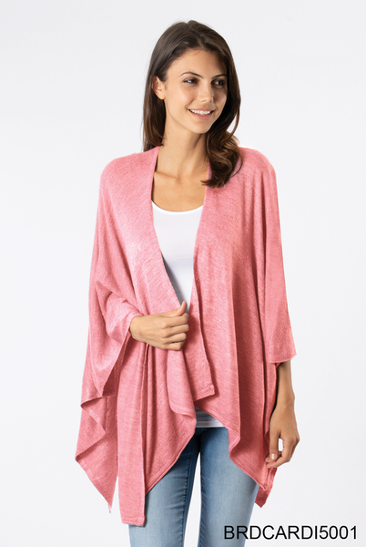 Simply Noelle | Heathered Bordeaux Cardi Wrap (Multiple Colors)