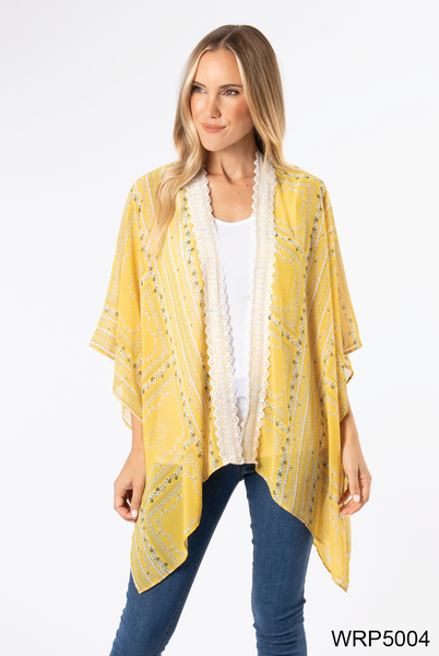 Simply Noelle | Crochet Trim Wrap (Yellow or Navy)
