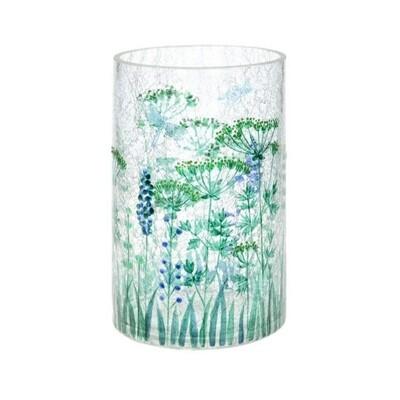 Crackle Floral Vase