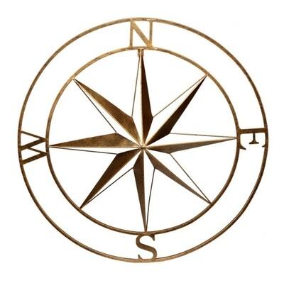 Black/Gold Compass Wall Art