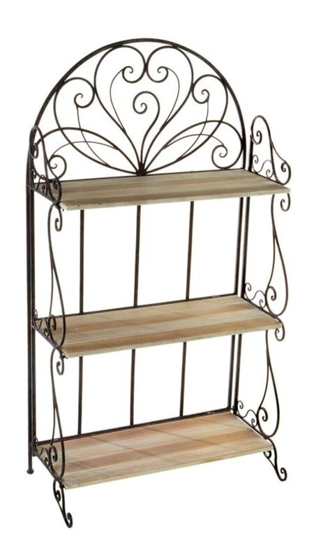 Antique Black 3 Tier Baker's Rack