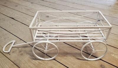 Antique White Plant Cart