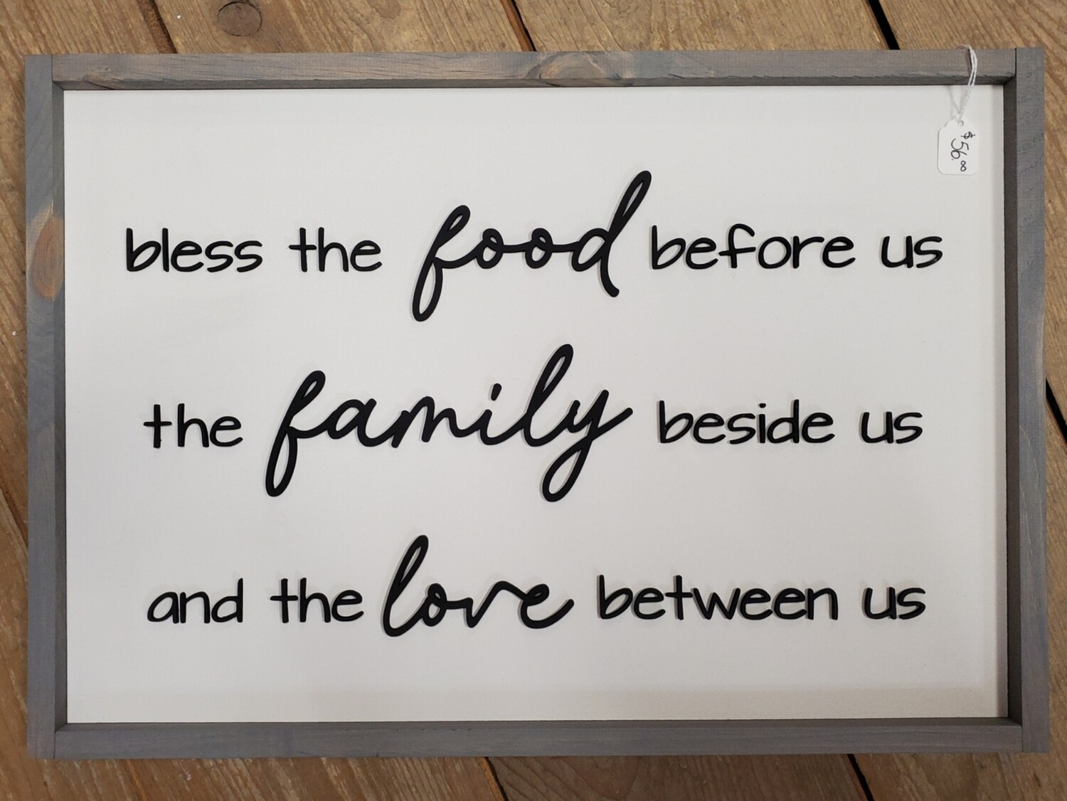 Bless the Food/Family/Love Sign