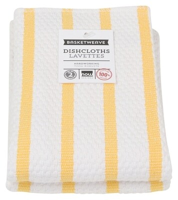 Now Designs Basketweave Dishcloths Set of 2 - Lemon