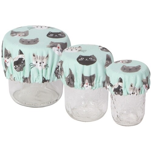 Now Designs Mini Bowl Covers (Set of 3) - Cats Meow
