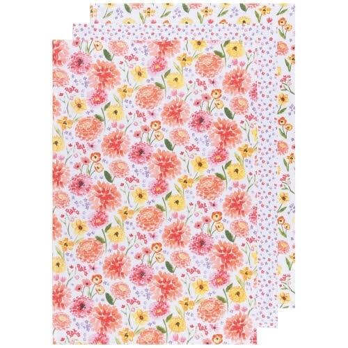 Now Designs Baker's Floursack Dishtowels (Set of 3) - Cottage Floral