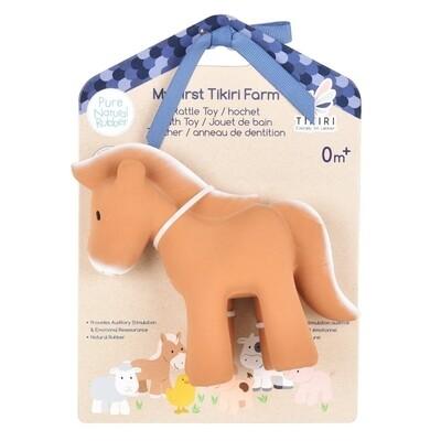 Tikiri Toys | Horse - Natural Rubber Rattle